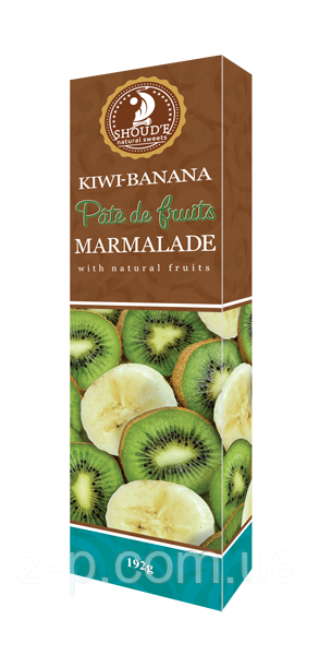 Мармелад Киви-банан, 190 г. Сладкий Мир