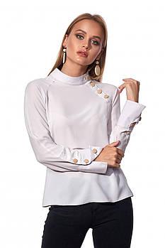 / Размер 42,44,46,48,50 / Женская рубашка свободного силуэта / 453.1_серый