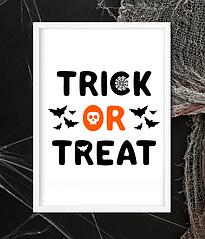 "Постер на Хэллоуин ""TRICK OR TREAT"" (2 размера)"