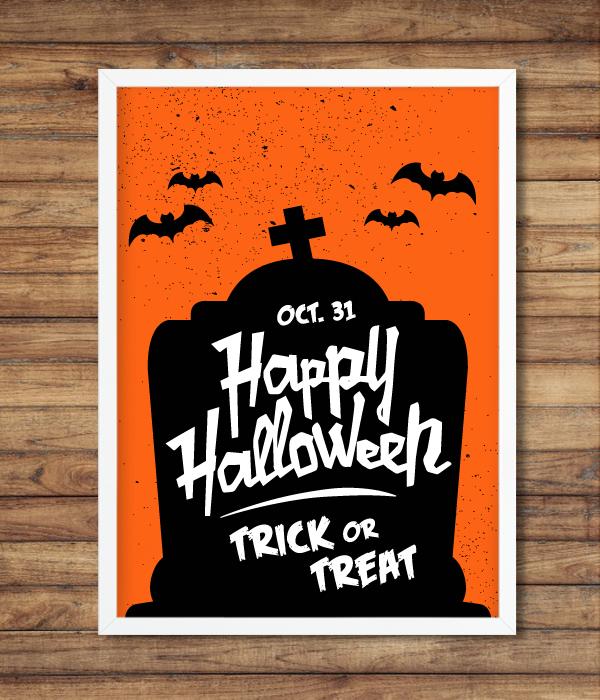 Постер на Хэллоуин (2 размера)