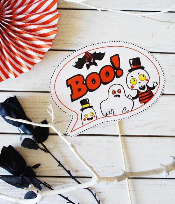 """Табличка для дитячої фотосесії """"Boo!"""""""