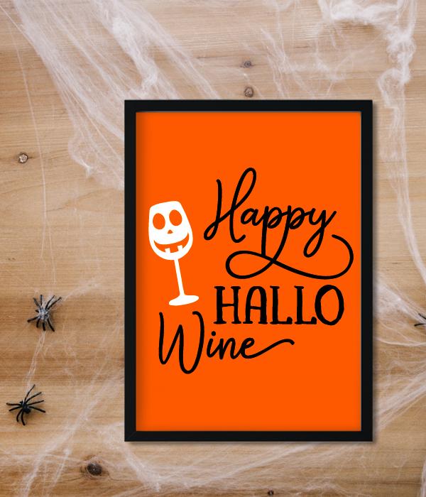 """Постер на Хэллоуин """"Happy HALLO Wine"""""""