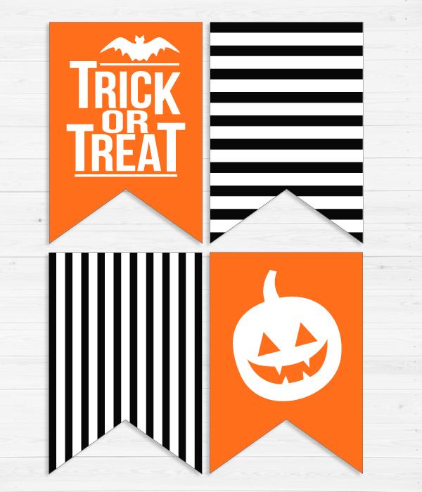 """Паперова гірлянди з прапорців """"Halloween"""" (8 прапорців)"""
