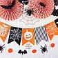 """Паперова гірлянди з прапорців """"Halloween"""" (8 прапорців), фото 2"""