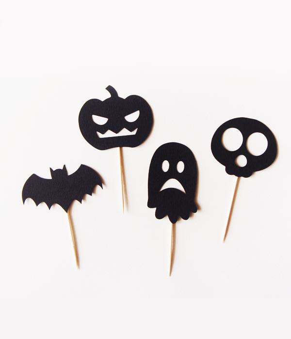 """Топперы для капкейков """"Halloween party"""""""