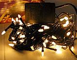 Новогодняя светодиодная гирлянда W-3 белая 100Led, фото 3