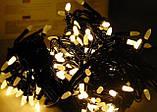 Новогодняя светодиодная гирлянда W-3 белая 100Led, фото 4