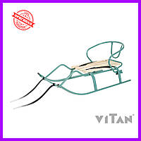 Санки со спинкой Vitan Спорт F1 бирюза, фото 1