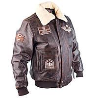 Летная куртка TOP GUN braun кожаная