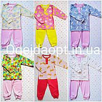 Детская пижама с манжетами для девочки 1,2,3,4,5,6,7 ,8 лет, фото 1