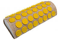 Полувалик массажно-аккупунктурный Lounge 24 х 11х 6 см желтые фишки