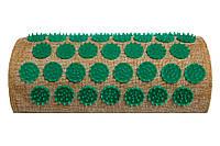 Полувалик массажно-аккупунктурный Lounge 24 х 11х 6 см зелёные фишки