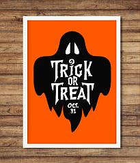 """Постер """"Trick or Treat"""" А4"""
