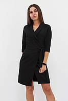 S (42-44) / Коктейльне плаття на запах Alisa, чорний