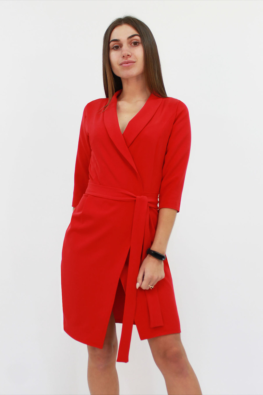 S, M, L / Коктейльне плаття на запах Alisa, червоний