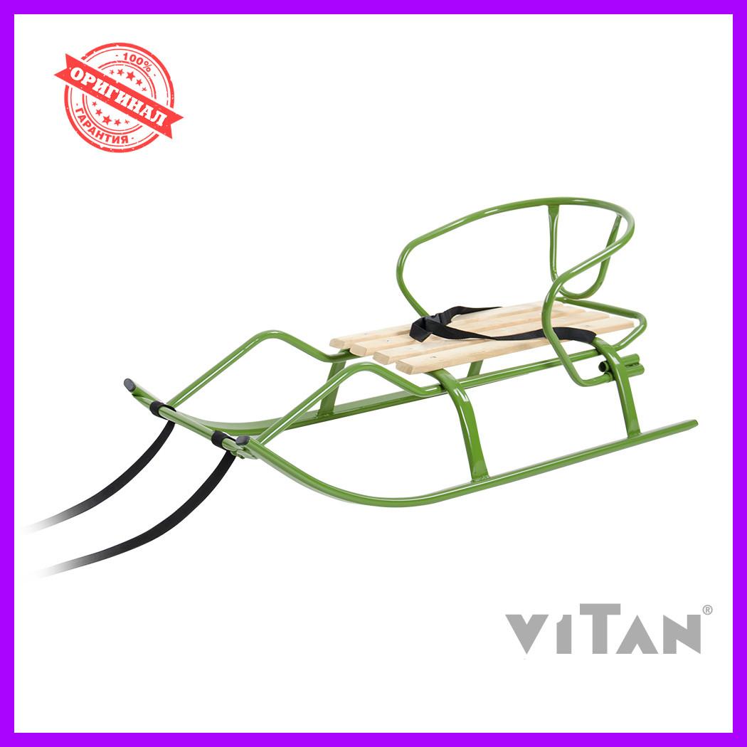 Санки со спинкой Vitan Спорт F1 хаки