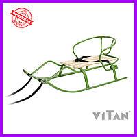 Санки со спинкой Vitan Спорт F1 хаки, фото 1