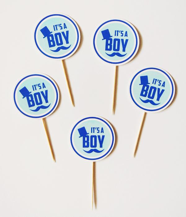 """Топперы для капкейков """"It's a boy"""" (10 шт.)"""