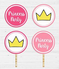 """Топперы для капкейков """"Princess Party"""""""