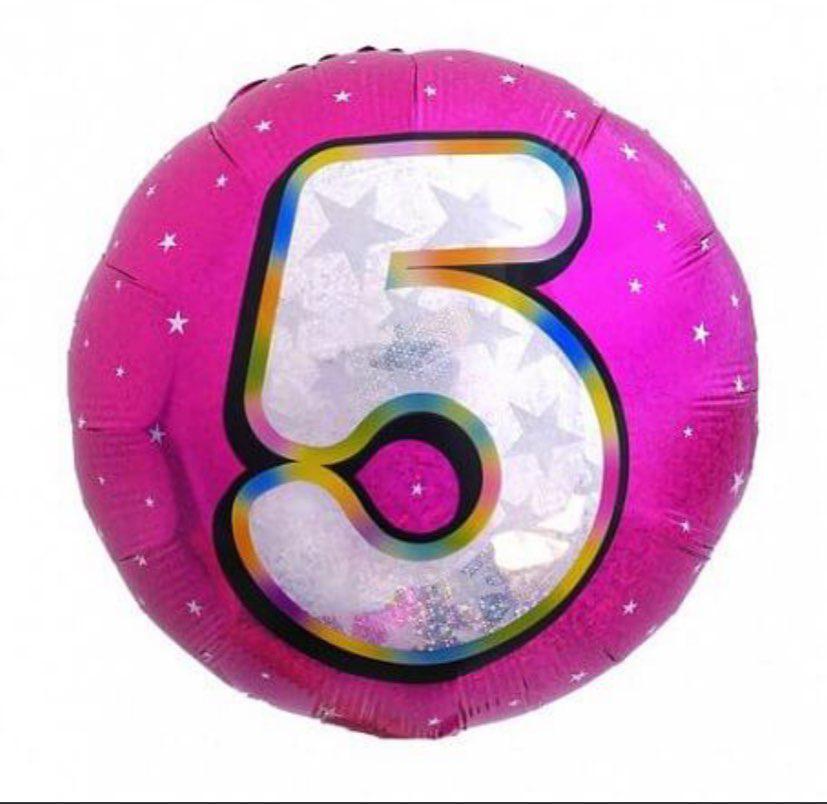 """Цифра """"5"""" Розовая Цифра """"5"""" 18""""(45см)"""
