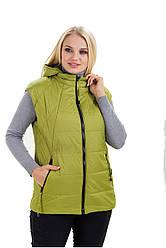Стильний.,жіночий,демісезонний жилет,знімний капюшон, розміри 44,46,48 яблуко (1) жіночий жилет