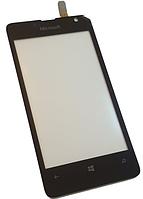 Сенсорный экран (тачскрин) для Nokia 430, Microsoft 430, RM-1066, RM-1067, RM-1099 Black