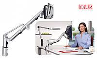 Держатель для ЖК-мониторов Novus LiftTEC Arm II, 3-8кг, металлик/антрацит