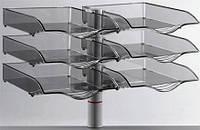 Поворотный лоток для бумаг Novus CopySwinger Duo III, на струбцине, серый