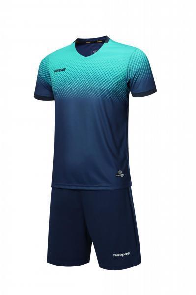 Футбольная форма Europaw 024 темно сине-бирюзовая