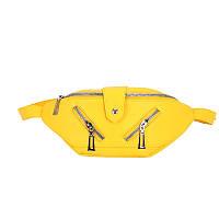 Женская классическая бананка поясная сумка жіноча сумочка через плечо Rockstar Желтый