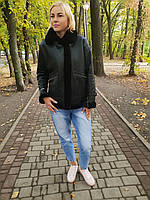 Женская натуральная дубленка авиатор, фото 1