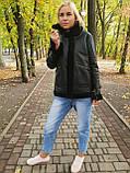 Женская натуральная дубленка авиатор, фото 3