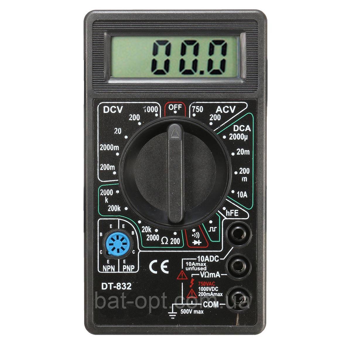 Мультиметр цифровой DT-832, щупы, тестер