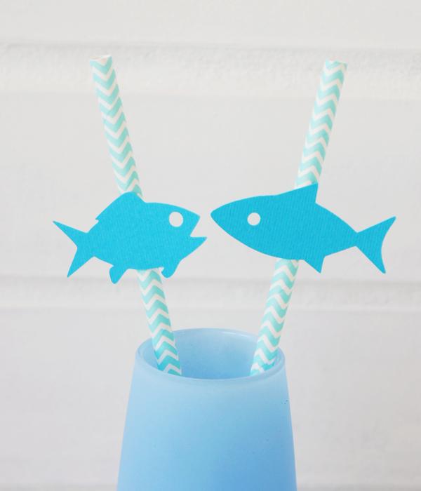 Бумажные трубочки с рыбками (10 шт.)