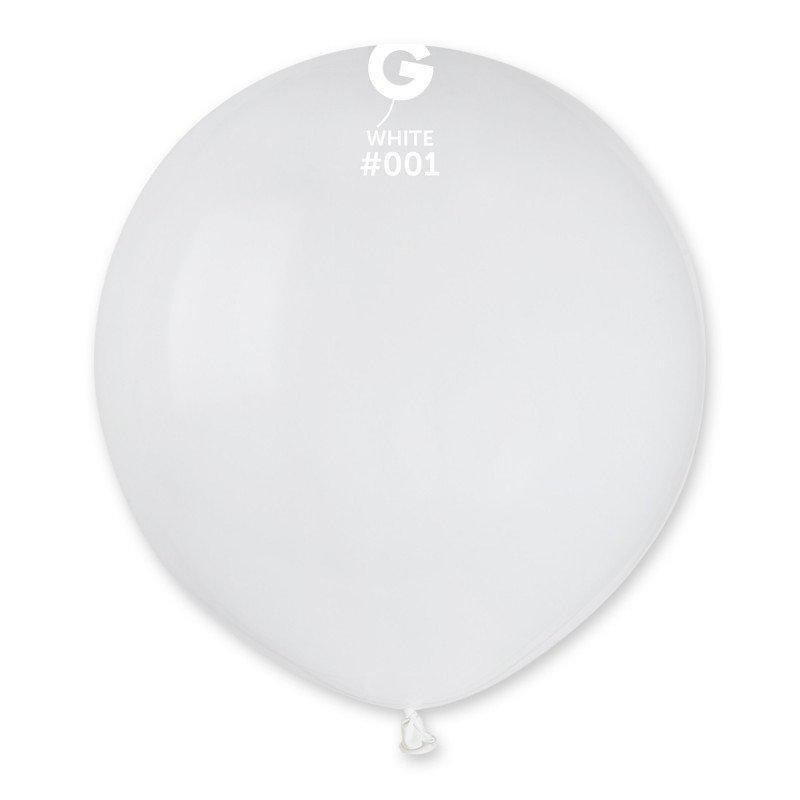 Воздушный шар Gemar G150-01Белый пастель 19' (48 см), 50 шт