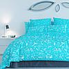 Постельный комплект ТЕП™ 300 Unikorn Blue 150х215 Бязь