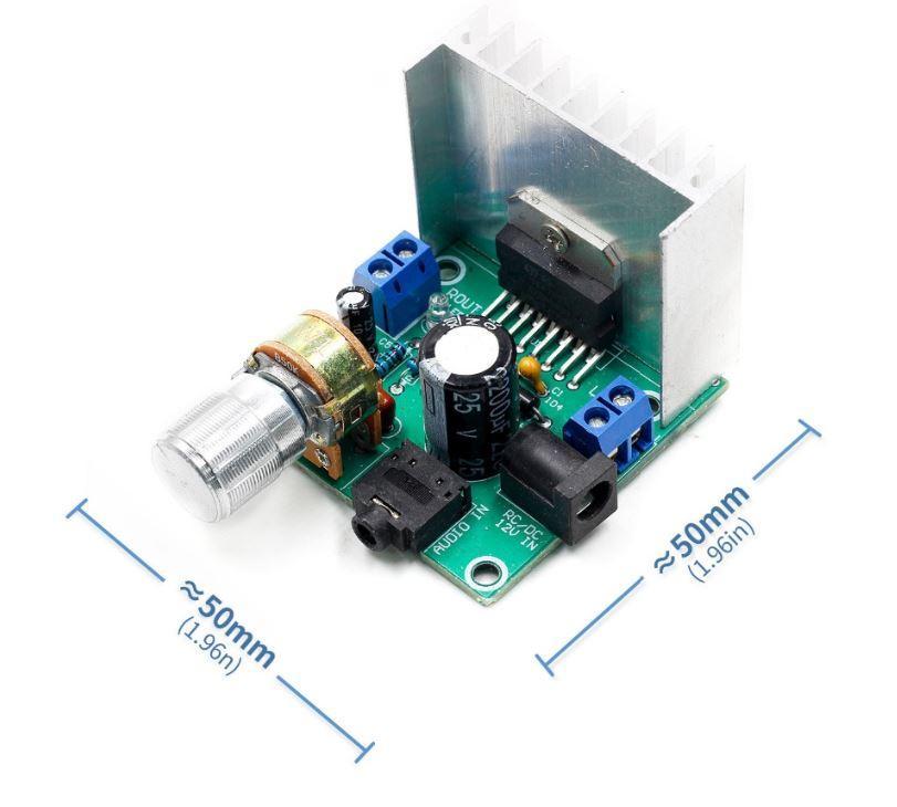 Плата звукового усилителя на основе TDA7297 2x15W, 12V