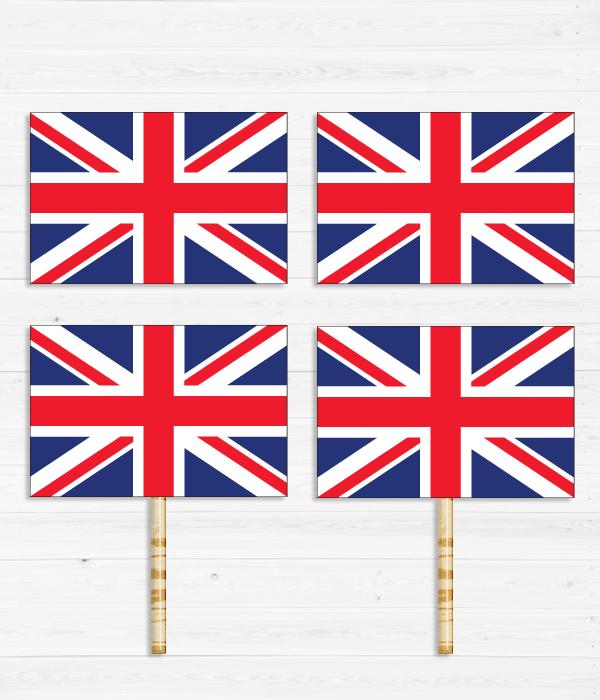 """Топперы для капкейков """"Британский флаг"""""""