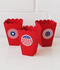 """Мини-коробочки для попкорна """"Америка"""""""