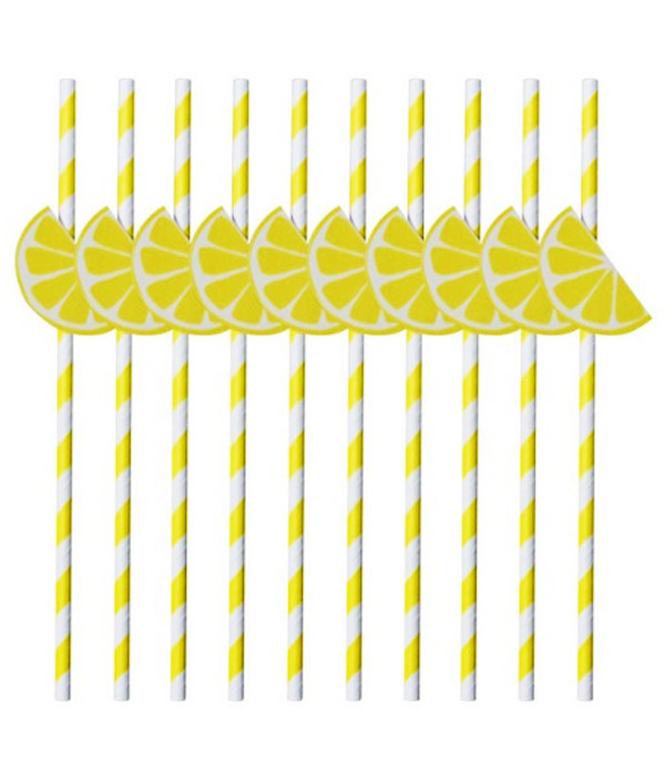 Паперові трубочки з лимончиками (10 шт.)
