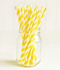 """Паперові трубочки для """"Yellow white stripes"""" (10 шт.)"""