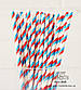 "Бумажные трубочки ""Blue and red stripes"" (10 шт.), фото 2"