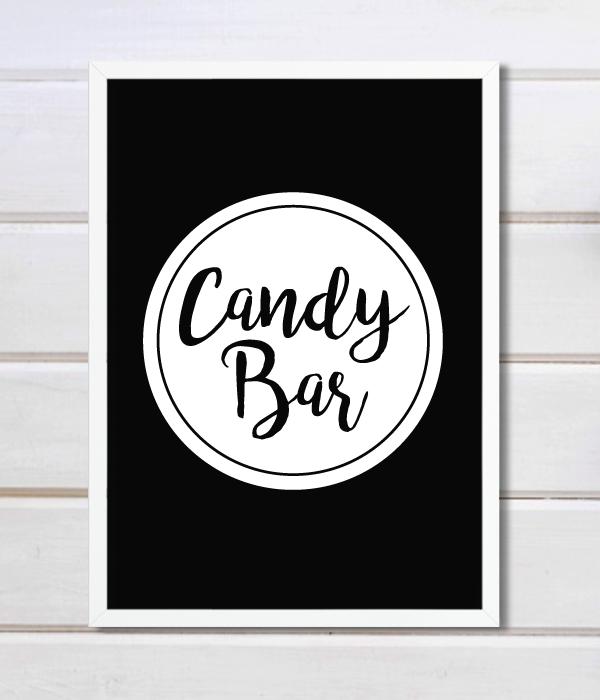 "Постер для кенди-бара ""Candy bar"""