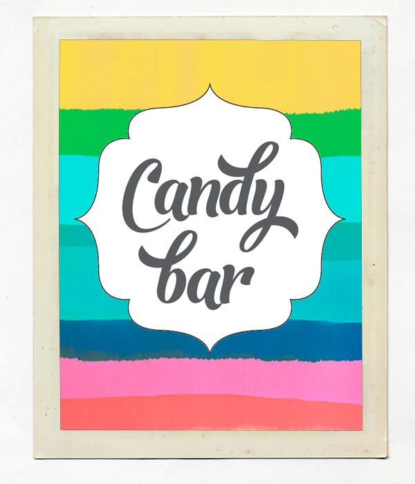 Карточка Candy Bar для украшения сладкого стола ( 1 шт)