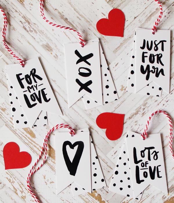 Набір ярликів на День Закоханих