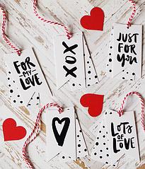Набор ярлычков на День Влюбленных