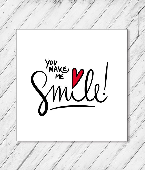 "Открытка ""You make me smile"""