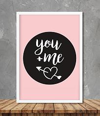 """Постер """"You+me"""""""