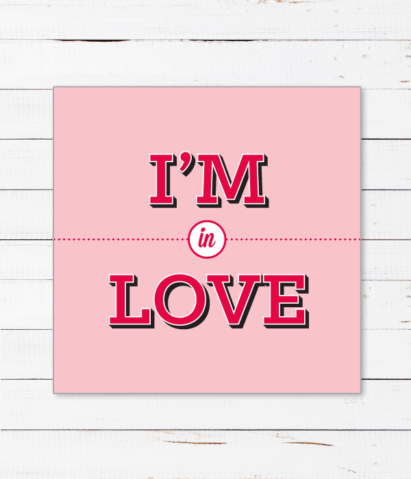 "Открытка ""I'M IN LOVE"""