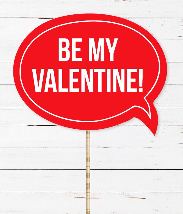 "Табличка для фотосессии ""BE MY VALENTINE!"""